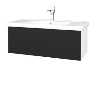 Dřevojas Koupelnová skříň VARIANTE SZZ 100 (umyvadlo Harmonia) N01 Bílá lesk / L03 Antracit vysoký lesk 192877