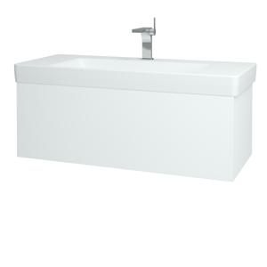 Dřevojas Koupelnová skříň VARIANTE SZZ 105 N01 Bílá lesk / L01 Bílá vysoký lesk 166748