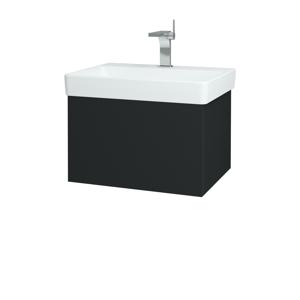 Dřevojas Koupelnová skříň VARIANTE SZZ 60 L03 Antracit vysoký lesk / L03 Antracit vysoký lesk 162672