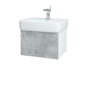 Dřevojas Koupelnová skříň VARIANTE SZZ 60 N01 Bílá lesk / D01 Beton 165482
