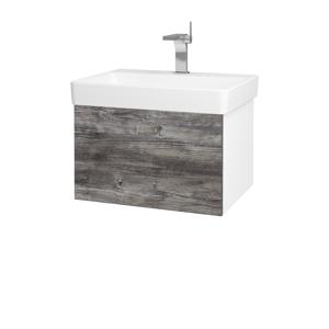 Dřevojas Koupelnová skříň VARIANTE SZZ 60 N01 Bílá lesk / D10 Borovice Jackson 194413