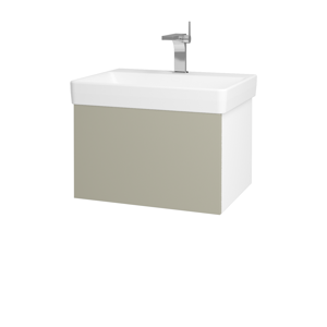 Dřevojas Koupelnová skříň VARIANTE SZZ 60 N01 Bílá lesk / M05 Béžová mat 194451