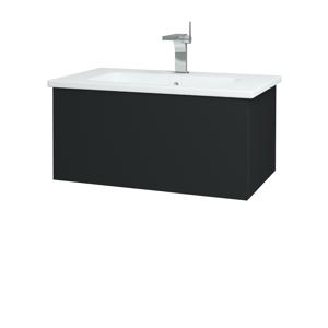 Dřevojas Koupelnová skříň VARIANTE SZZ 80 (umyvadlo Euphoria) L03 Antracit vysoký lesk / L03 Antracit vysoký lesk 159887