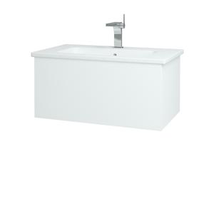 Dřevojas Koupelnová skříň VARIANTE SZZ 80 (umyvadlo Euphoria) N01 Bílá lesk / L01 Bílá vysoký lesk 159986