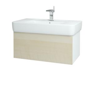 Dřevojas Koupelnová skříň VARIANTE SZZ 85 N01 Bílá lesk / D02 Bříza 166014