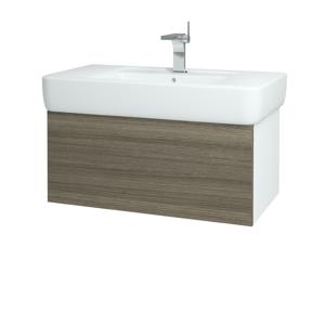 Dřevojas Koupelnová skříň VARIANTE SZZ 85 N01 Bílá lesk / D03 Cafe 166021