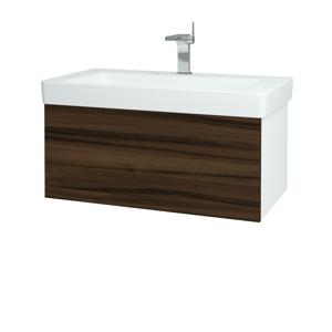 Dřevojas Koupelnová skříň VARIANTE SZZ 85 N01 Bílá lesk / D06 Ořech 163853