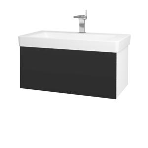 Dřevojas Koupelnová skříň VARIANTE SZZ 85 N01 Bílá lesk / N03 Graphite 195328