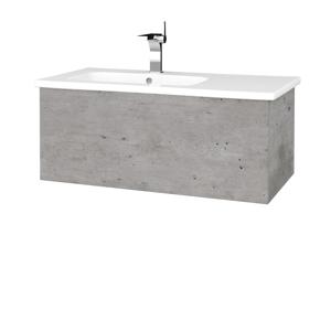 Dřevojas Koupelnová skříň VARIANTE SZZ 90 (umyvadlo Euphoria) D01 Beton / D01 Beton 189501