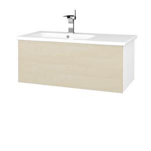 Dřevojas Koupelnová skříň VARIANTE SZZ 90 (umyvadlo Euphoria) N01 Bílá lesk / D02 Bříza 189693