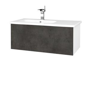 Dřevojas Koupelnová skříň VARIANTE SZZ 90 (umyvadlo Euphoria) N01 Bílá lesk / D16 Beton tmavý 189792