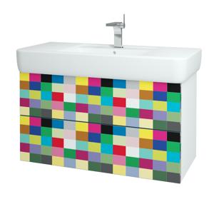 Dřevojas Koupelnová skříň VARIANTE SZZ2 100 N01 Bílá lesk / IND Individual 161934