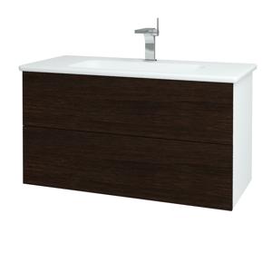 Dřevojas Koupelnová skříň VARIANTE SZZ2 100 (umyvadlo Euphoria) N01 Bílá lesk / D08 Wenge 160791
