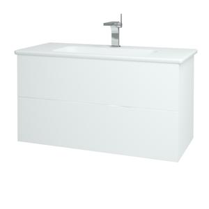 Dřevojas Koupelnová skříň VARIANTE SZZ2 100 (umyvadlo Euphoria) N01 Bílá lesk / L01 Bílá vysoký lesk 160838