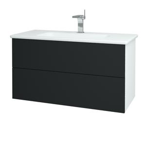 Dřevojas Koupelnová skříň VARIANTE SZZ2 100 (umyvadlo Euphoria) N01 Bílá lesk / L03 Antracit vysoký lesk 160845