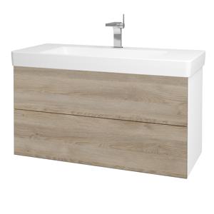 Dřevojas Koupelnová skříň VARIANTE SZZ2 105 N01 Bílá lesk / D17 Colorado 195854