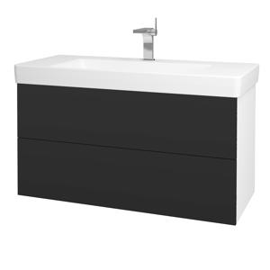 Dřevojas Koupelnová skříň VARIANTE SZZ2 105 N01 Bílá lesk / N03 Graphite 195885
