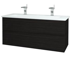 Dřevojas Koupelnová skříň VARIANTE SZZ2 120 (umyvadlo Euphoria) D14 Basalt / D14 Basalt 161255U