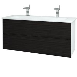 Dřevojas Koupelnová skříň VARIANTE SZZ2 120 (umyvadlo Euphoria) N01 Bílá lesk / D14 Basalt 161378U
