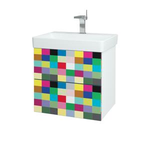 Dřevojas Koupelnová skříň VARIANTE SZZ2 60 N01 Bílá lesk / IND Individual 163068