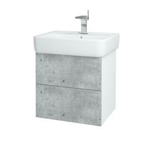 Dřevojas Koupelnová skříň VARIANTE SZZ2 60 N01 Bílá lesk / N03 Graphite 196684