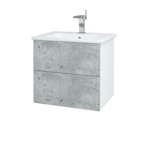 Dřevojas Koupelnová skříň VARIANTE SZZ2 60 (umyvadlo Euphoria) N01 Bílá lesk / N08 Cosmo 188603