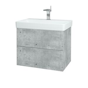 Dřevojas Koupelnová skříň VARIANTE SZZ2 70 D01 Beton / D01 Beton 163419