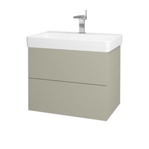 Dřevojas Koupelnová skříň VARIANTE SZZ2 70 M05 Béžová mat / M05 Béžová mat 195007