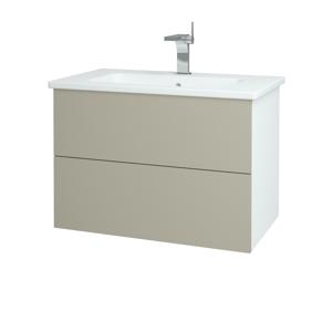 Dřevojas Koupelnová skříň VARIANTE SZZ2 80 (umyvadlo Euphoria) N01 Bílá lesk / L04 Béžová vysoký lesk 160272
