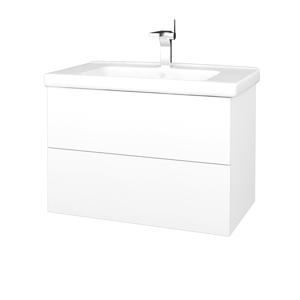 Dřevojas Koupelnová skříň VARIANTE SZZ2 80 (umyvadlo Harmonia) N01 Bílá lesk / M01 Bílá mat 192457