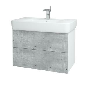 Dřevojas Koupelnová skříň VARIANTE SZZ2 85 N01 Bílá lesk / N07 Stone 197100