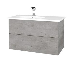 Dřevojas Koupelnová skříň VARIANTE SZZ2 90 (umyvadlo Euphoria) D01 Beton / D01 Beton 189051