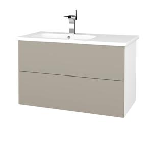 Dřevojas Koupelnová skříň VARIANTE SZZ2 90 (umyvadlo Euphoria) N01 Bílá lesk / L04 Béžová vysoký lesk 189396