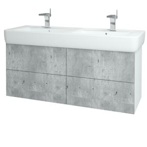 Dřevojas Koupelnová skříň VARIANTE SZZ4 130 N01 Bílá lesk / N03 Graphite 197889