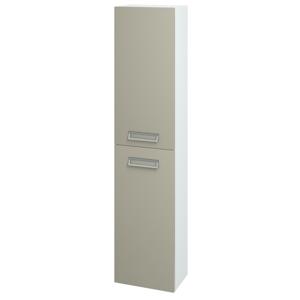 Dřevojas Skříň vysoká DOOR SV1D2 35 N01 Bílá lesk / L04 Béžová vysoký lesk / Levé 122935