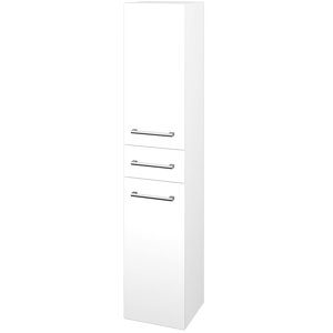 Dřevojas Skříň vysoká DOS SVD2Z 35 N01 Bílá lesk / Úchytka T03 / N01 Bílá lesk / Pravé 209889CP