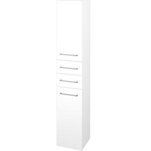 Dřevojas Skříň vysoká DOS SVD2Z2 35 N01 Bílá lesk / Úchytka T04 / N01 Bílá lesk / Levé 210038E