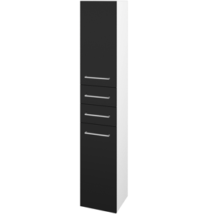 Dřevojas Skříň vysoká DOS SVD2Z2 35 N01 Bílá lesk / Úchytka T04 / N08 Cosmo / Pravé 210069EP
