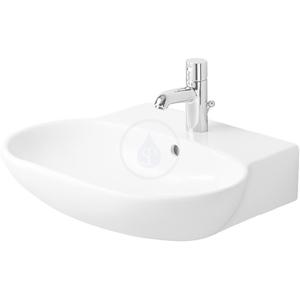 DURAVIT Bathroom_Foster Jednootvorové umyvadlo s přepadem, 550 mm x 445 mm, bílé umyvadlo 0419550000