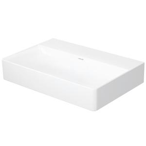 DURAVIT DuraSquare Umyvadlo nábytkové Compact, 600x400 mm, DuraCeram, s WonderGliss, alpská bílá 23566000791