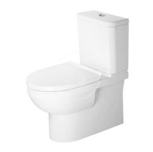 DURAVIT DuraStyle Basic WC kombi mísa, Vario odpad, Rimless, s WonderGliss, alpská bílá 21820900001