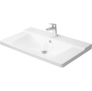 DURAVIT P3 Comforts Umyvadlo do nábytku s přepadem, 850 mm x 500 mm, bílé tříotvorové umyvadlo 2332850030