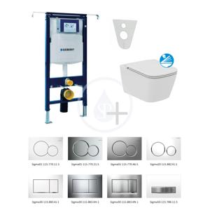 GEBERIT Duofix Sada pro závěsné WC + klozet a sedátko softclose Ideal Standard Mia sada s tlačítkem Sigma30, bílá/lesklý chrom/bílá 111.355.00.5 NG5