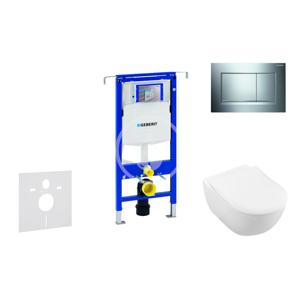 GEBERIT Duofix Set předstěnové instalace, klozetu a sedátka Subway 2.0, DirectFlush, SoftClose, CeramicPlus a tlačítka Sigma30, lesklý chrom/chrom mat 111.355.00.5 NI6