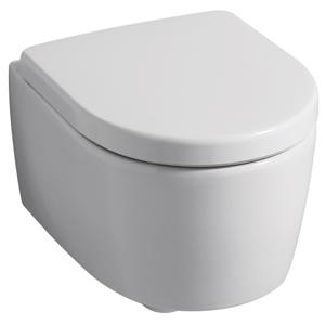 Geberit IconXS Závěsné WC s hlubokým splachováním zkrácené vyložení uzavřený tvar 49cm Bílá 204030000 204030000