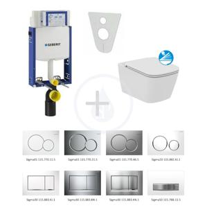 GEBERIT Kombifix Sada pro závěsné WC + klozet a sedátko softclose Ideal Standard Mia sada s tlačítkem Sigma20, bílá/lesklý chrom/bílá 110.302.00.5 NG4