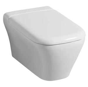 Geberit myDay Závěsné WC s hlubokým splachováním uzavřený tvar Rimfree 54cm KeraTect / Bílá 201460600 201460600