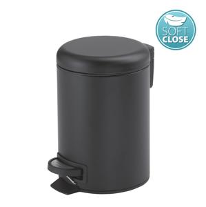 Gedy POTTY odpadkový koš 5l, Soft Close, černá mat 330914