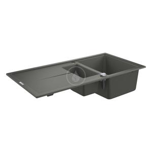 GROHE Dřezy Kompozitní dřez K400 s automatickým odtokem, 1000x500 mm, granitová šedá 31642AT0