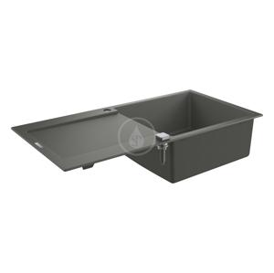 GROHE Dřezy Kompozitní dřez K500 s automatickým odtokem, 1000x500 mm, granitová šedá 31645AT0